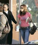 Halle Berry @ candids in pink shirt