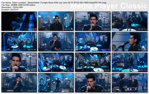 Adam Lambert - SleepWalker (Tonight Show With Jay Leno 02.03.2010) HD-1080i