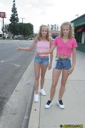 twins Teen hitchhikers
