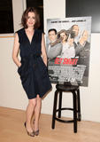 Anne Hathaway shows legs at Meet The Actors hosted at the Apple Store Soho in New York